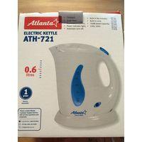 Чайник Atlanta ATH-721, 760 Вт, объем 0.6 л, пластик, фильтр. Покупала на работу пользовалась месяц. Отличный компактный небольшой чайник. Немного бу.