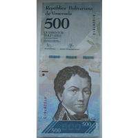 Венесуэла 500 боливар 2016 г.