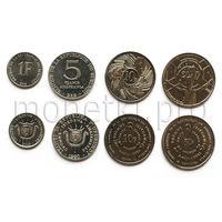 Бурунди 4 монеты 1980-2011 годов