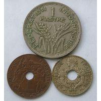 Супер скидка ! Франц. Индокитай, лот монет (99)