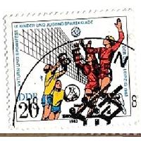 ГДР,  1983 года к серии Спортивные игры. Волейбол (АНД
