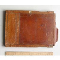 Кассета для фотопластинок деревянная для форматной фотокамеры 13х18 см на запчасти вид 4
