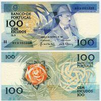 Португалия. 100 эскудо (образца 03.12.1987 года, P179d, подпись 3, UNC)