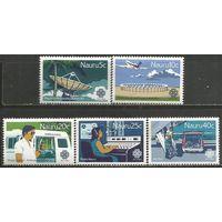 Науру. Всемирный Год Коммуникаций. 1983г. Mi#267-71. Серия.