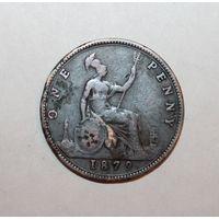 Великобритания 1пенни 1879г. VG.