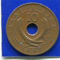 Британская Восточная Африка 10 центов 1937