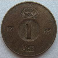 Швеция 1 эре 1955 г. (d)