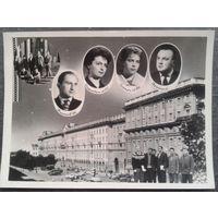 Фото из альбома выпускника ВУЗа. Минск. Вид на ул. Ленина. 1950-60-е. 18х24 см.