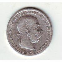 Австрия. 1 крона 1893 г.( серебро)