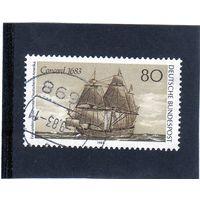 Германия. Ми-1180. Корабль Конкорд 1683.Серия: 300-летие первых немецких поселенцев в Америке.1983.