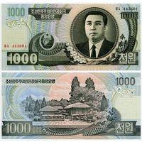 Северная Корея. 1000 вон (образца 2006 года, P45b, UNC)