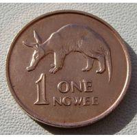 "Замбия. 1 нгве 1983 год KM#9a  ""Муравьед Трубкозуб"""