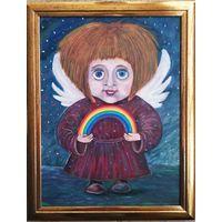 Ангел с радугой