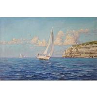 """""""Море"""" копия Адамова, картина маслом 40х60 см"""