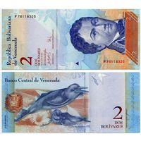 Венесуэла. 2 боливара (образца 24.05.2007 года, P88b, UNC)