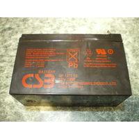 Акумулятор GP1272 F2, 12V/7.2Ah, 28 W, б/у в хор. сост.