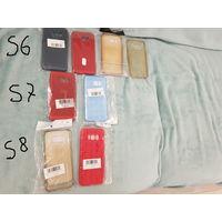 Чехол-сумка и бамперы samsung s6, s7, s8 1. Чехол-сумка от древнего телефона, б/у, отличное красивое состояние, размер 105х65х25мм - 5 руб. 2. S6 - из прозрачного силикона, старые - даром