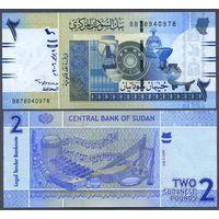 Судан 2 фунта образца 2006 года UNC P65