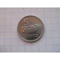 Фиджи 5 центов 1999г.km51a