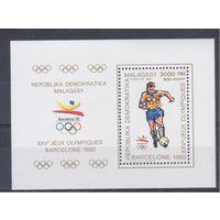 [1854] Мадагаскар 1990. Спорт.Футбол.Олимпиада. БЛОК.
