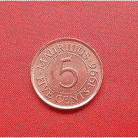 69-18 Маврикий, 5 центов 1996 г. Единственное предложение монеты данного года на АУ