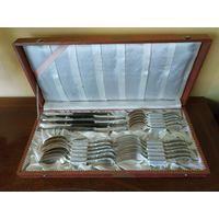 Набор столовых приборов на 6 персон/24 предмета.Серебрение 90 BMF. Германия. Барок стиль.