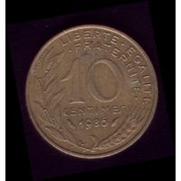 10 сантимов 1986 год Франция