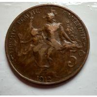 Франция 5 сантимов, 1912  2-6-19
