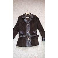 Куртка из натуральной замши и кожи 50 размер