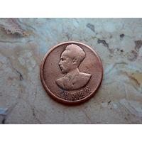 5 центов Эфиопия, лев несущий православный крест.