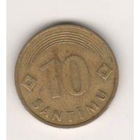 Латвия, 10 santimu, 1992