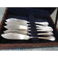 Набор ножей 6шт. для рыбы Серебро 800 пробы