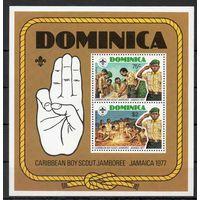 Скауты Доминика 1977 год 1 чистый блок