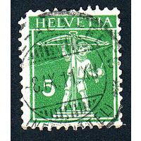 44: Швейцария, почтовая марка, 1910 год, номинал 5с, SG#263
