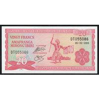 BURUNDI/Бурунди_20 Franks_05.02.2005_Pick#27.d_UNC