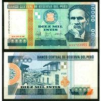 Перу. 10000 инти. 1988. UNC