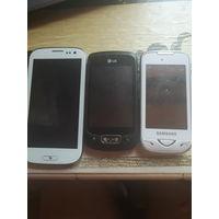 Смартфоны 3 штуки на з/ч, восстановление