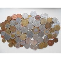 Монеты 114 штук без повторов без СССР РФ