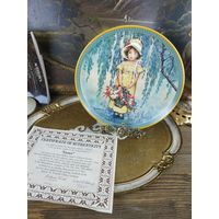 Декоративная тарелка фарфор номерная коллекционная Easter knowles пасха