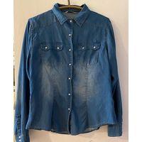 Джинсовая рубашка, на р-р 46-48