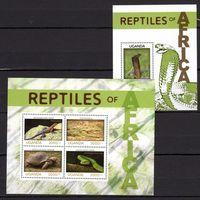 2013 Уганда Фауна Рептилии Змеи