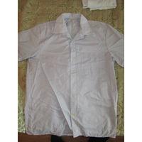 Рубашка  38/180 с коротким рукавом светло фиолетовая