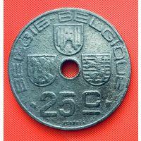 12-13 Бельгия, 25 сантимов 1945 г. Фламандский тип