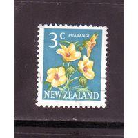 Новая Зеландия.Ми-460. Венеция Маллоу (Hibiscus trionum) Пуаранги. 1967.