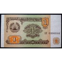 Таджикистан 1 рубл 1994 АК UNC
