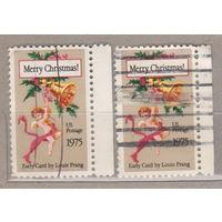 Рождество с правым боковым полем США 1974 год лот 1063 цена за 1 марку на выбор
