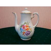 Чайник фарфоровый Цветы лета Hutschenreuther LHS Bavaria Германия высота 23 см., дата выпуска 1925 - 1939 гг.