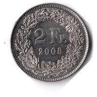 Швейцария. 2 франка. 2008 г.