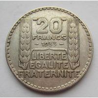 Франция, 20 франков, 1933, серебро
