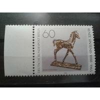 Берлин 1988 Конь, бронзовая статуэтка Михель-1,2 евро